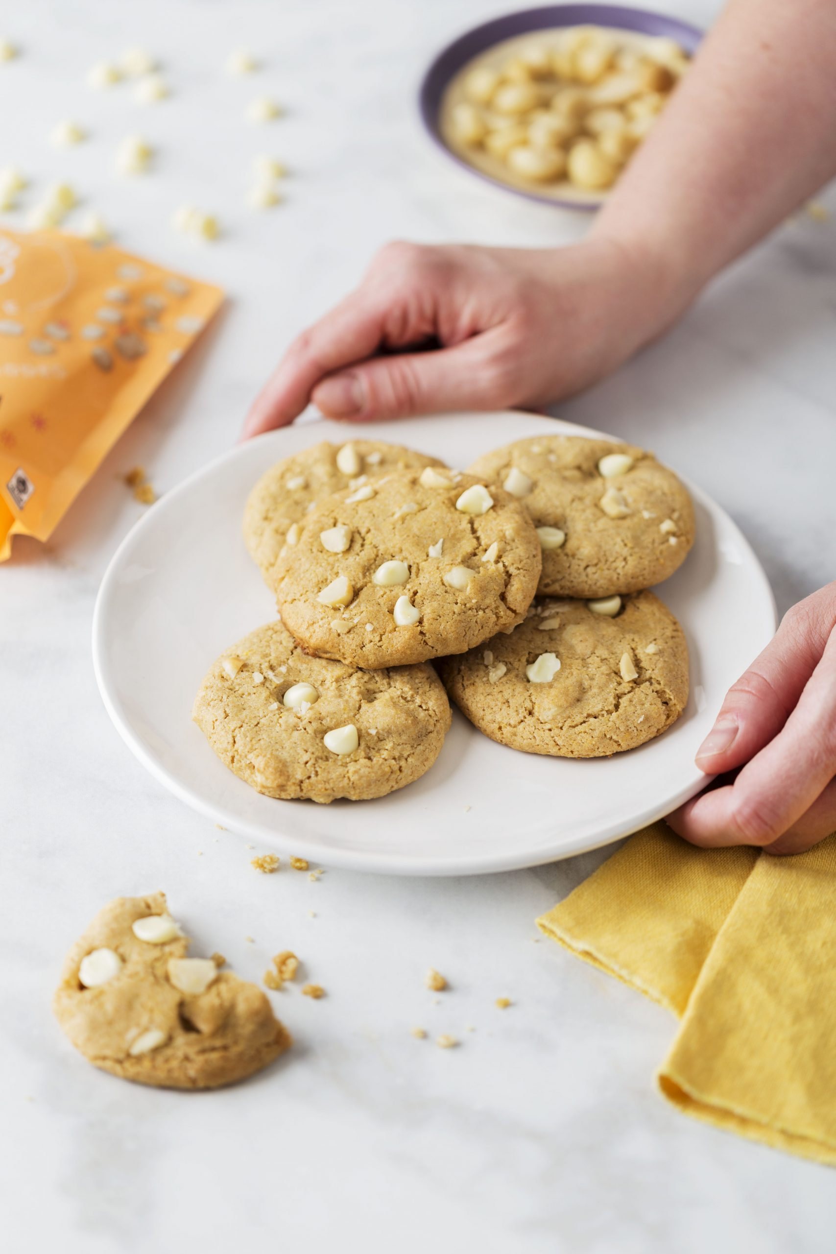 Better For You White Chocolate Chip Macadamia Nut Cookies