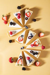 Low Carb, No Sugar Added White Chocolate & Summer Berry Tart