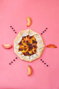 Spiced Peach & Chocolate Galette