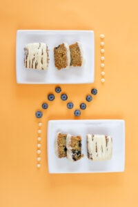 White Chocolate Blueberry Mini Loaves