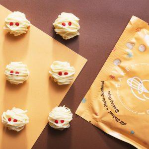 White Chocolate-Coconut Mummy Truffles