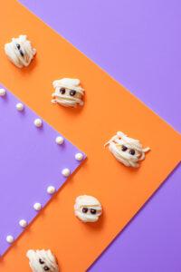 White Chocolate Mummy Cookies