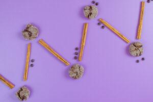 Chocolate Cinnamon Crinkle Cookies
