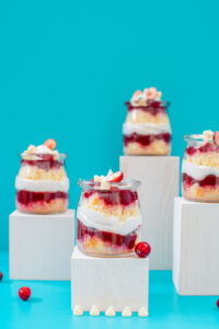 White Chocolate Cranberry Trifle
