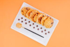Peanut Butter Chocolate Chip Mini Pancakes
