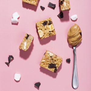 Peanut Butter-Chocolate Krispie Treats