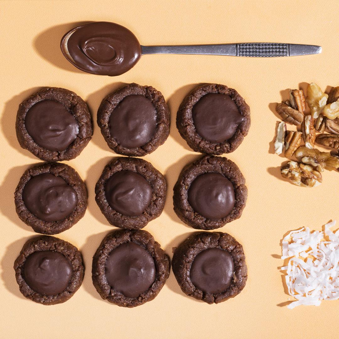 No-Bake Double Chocolate Thumbprint