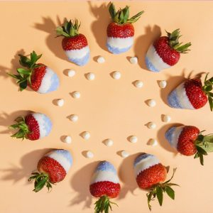 Red, White, and Blue Dipped Strawberries