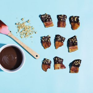 Chocolate-Dipped Bacon Bites