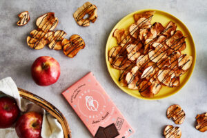 Chocolate Drizzle Apple Chips