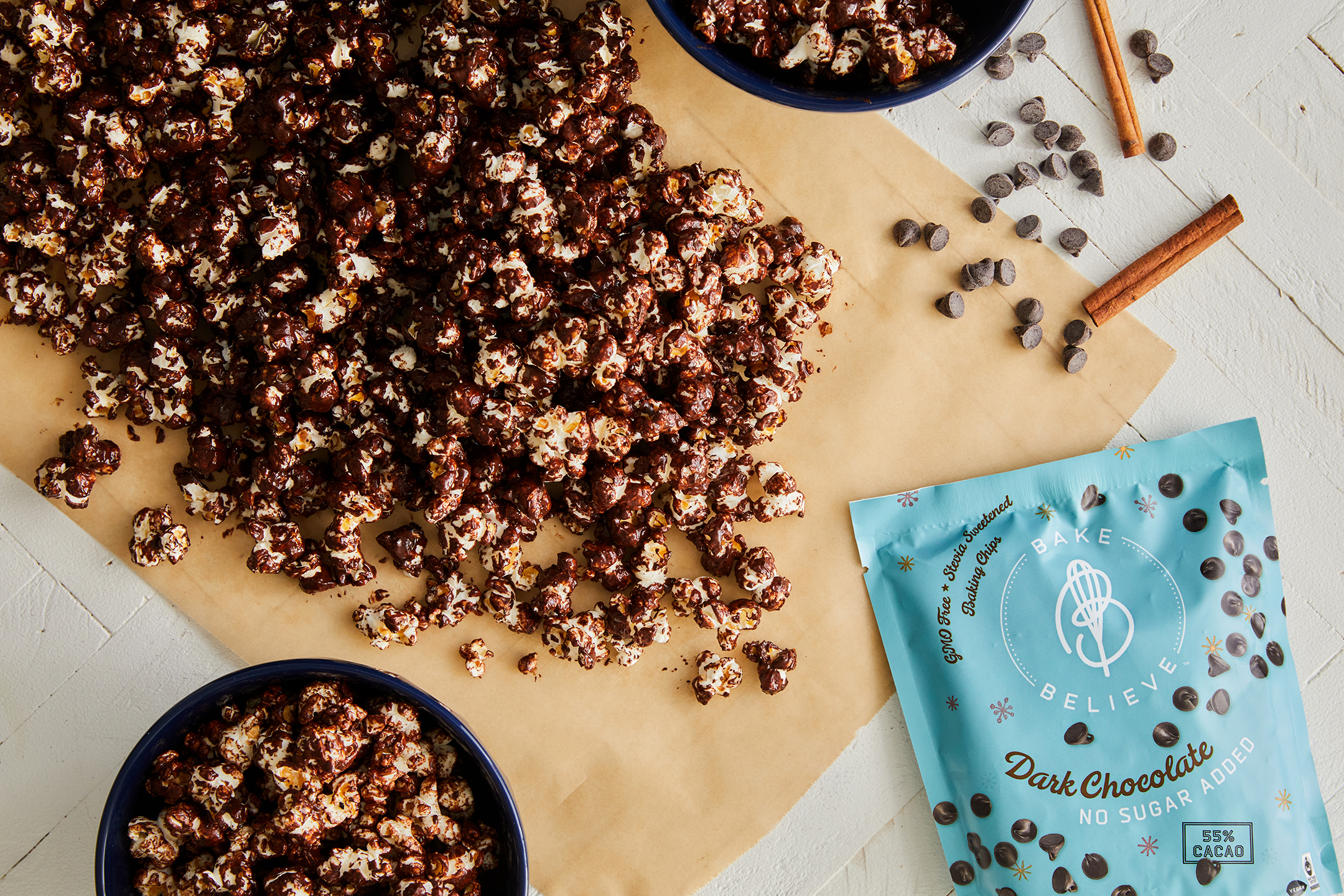 Mexican Spice Chocolate Popcorn